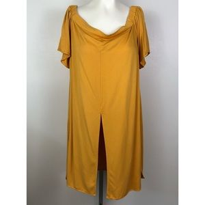 Eloquii Off The Shoulder Flowy Tunic Blouse 24V